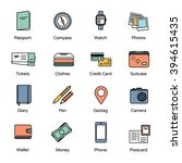 travel icons collection 1.... | Shutterstock .eps vector #394615435