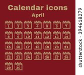 the calendar icon.  april... | Shutterstock .eps vector #394618279