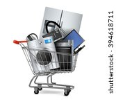 large home appliances with a... | Shutterstock .eps vector #394618711