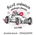 vector vintage sport racing car | Shutterstock .eps vector #394620499