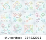 thin line flat elements set for ...   Shutterstock .eps vector #394622011