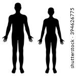 vector silhouettes of man and... | Shutterstock .eps vector #394626775