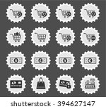 marketing and e commerce icons... | Shutterstock .eps vector #394627147