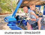 happy senior couple having fun... | Shutterstock . vector #394636459