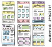 hand drawn website layouts....