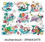 cartoon style.  business summer ...   Shutterstock .eps vector #394641475