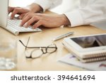 business person working in... | Shutterstock . vector #394641694