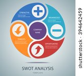 swot analysis template with... | Shutterstock .eps vector #394642459