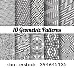 set of 10 abstract patterns.... | Shutterstock .eps vector #394645135