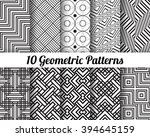 set of 10 abstract patterns.... | Shutterstock .eps vector #394645159