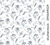 seamless vector pattern with... | Shutterstock .eps vector #394649029