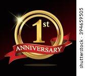 1st golden anniversary logo.... | Shutterstock .eps vector #394659505