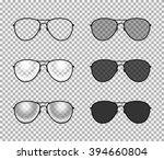 eye glasses set   sunglasses... | Shutterstock .eps vector #394660804