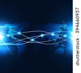 abstract technology global... | Shutterstock . vector #394660957