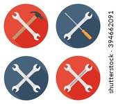 wrenches icons flat set with... | Shutterstock .eps vector #394662091