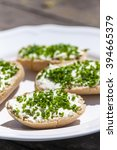 garlic spread with chive | Shutterstock . vector #394665379