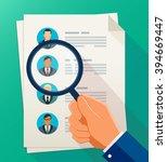concept of human resources... | Shutterstock .eps vector #394669447