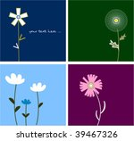 collection funny floral cards | Shutterstock .eps vector #39467326