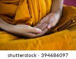 monk's hand in buddhism... | Shutterstock . vector #394686097