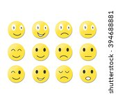 set of emoticons. set of emoji  ... | Shutterstock .eps vector #394688881
