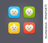 cute rounded icons with smiley...