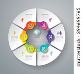 infographic design template can ... | Shutterstock .eps vector #394699765