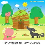 the three little pigs  wolf... | Shutterstock .eps vector #394703401