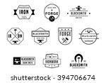 blacksmith badges black vector... | Shutterstock .eps vector #394706674