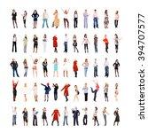 workforce concept teamwork... | Shutterstock . vector #394707577