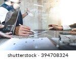 businessman making presentation ... | Shutterstock . vector #394708324