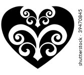 abstract heart design  vector... | Shutterstock .eps vector #39470845
