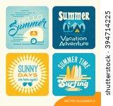 summer retro design elements... | Shutterstock .eps vector #394714225