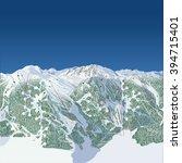 generic ski hill  west coast... | Shutterstock . vector #394715401
