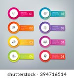 3d infographics buttons with... | Shutterstock .eps vector #394716514