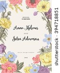 wedding invitation. spring... | Shutterstock .eps vector #394718851