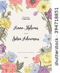 wedding invitation. spring... | Shutterstock .eps vector #394718851