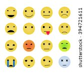 emoticons yellow smile faces... | Shutterstock .eps vector #394721611