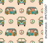 seamless pattern with colorful... | Shutterstock .eps vector #394722067
