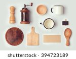 kitchen mock up template with... | Shutterstock . vector #394723189