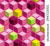 cube seamless pattern  hexagon...   Shutterstock .eps vector #394723501