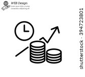web line icon. business idea ... | Shutterstock .eps vector #394723801