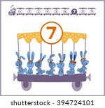 train with numbers and animals... | Shutterstock .eps vector #394724101