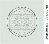 line geometric shape. minimal... | Shutterstock .eps vector #394730785