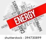 energy word cloud  fitness ... | Shutterstock . vector #394730899