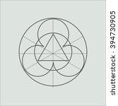 line geometric shape. minimal... | Shutterstock .eps vector #394730905