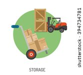 storage and delivery detailed... | Shutterstock .eps vector #394734781