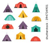 camping tents vector icon....   Shutterstock .eps vector #394734901