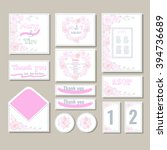 wedding invitations with... | Shutterstock .eps vector #394736689