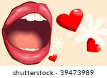 illustration of open mouth with ... | Shutterstock .eps vector #39473989