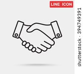 line icon    handshake   Shutterstock .eps vector #394749391